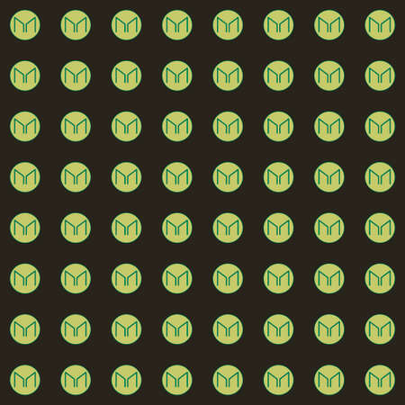 Background of cryptocurrency coin. Seamless pattern with Maker. Vector.