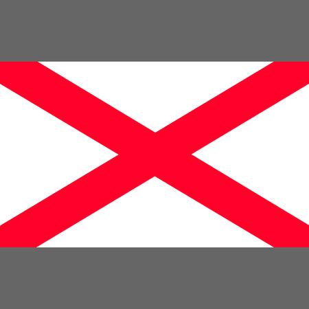 Saint Patrick's saltire. Component of the Union Flag. Digital reproduction. Vector.