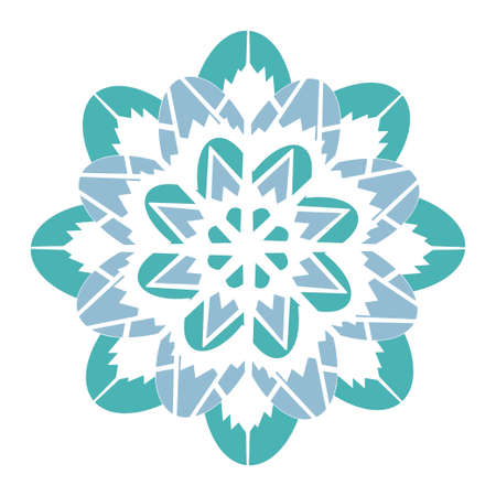 Snowflake isolated on white background. Element for winter design. Vector.