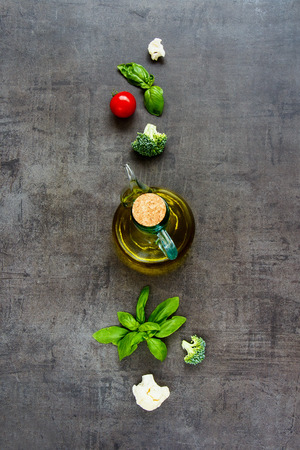 Healthy cooking background flat lay 版權商用圖片