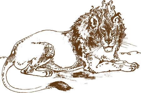 Resting lion Фото со стока - 39140772