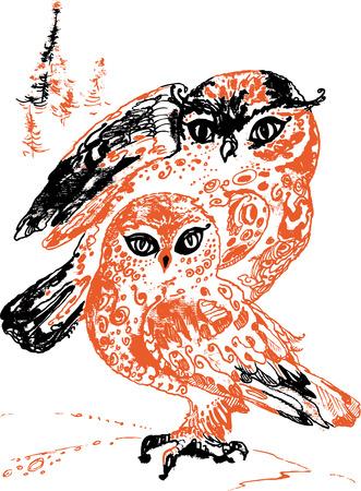 dappled: Owls