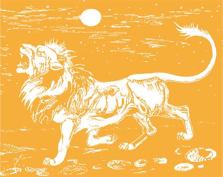 Lion in savanna Фото со стока - 39140783