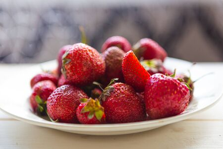 Fresh tasty strawberry on the table, closeup