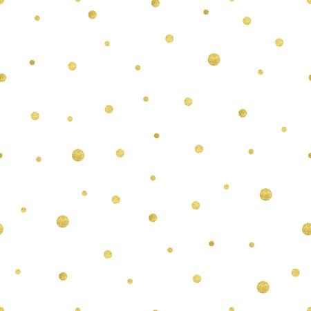 골드 서클 패턴의 벡터 일러스트 레이 션. 고급스러운 다른 크기의 폴카 도트입니다. 일러스트
