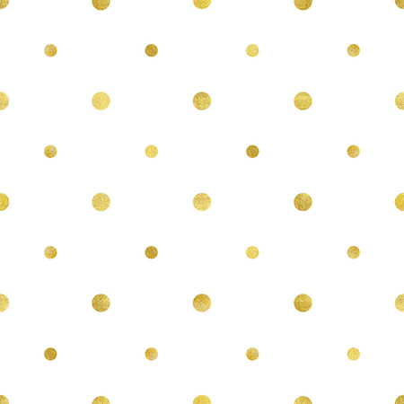 Vector illustration of gold circle pattern. Luxurious seamless of different sized polka dots. 向量圖像