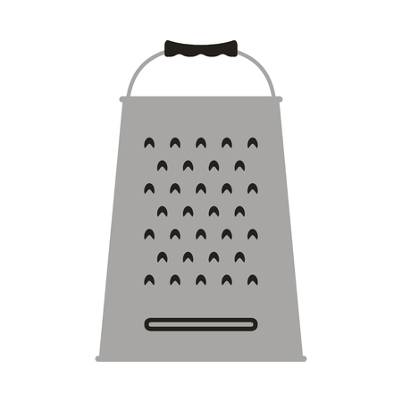foodstuff: Vector illustration of grater icon. Isolated on white background.