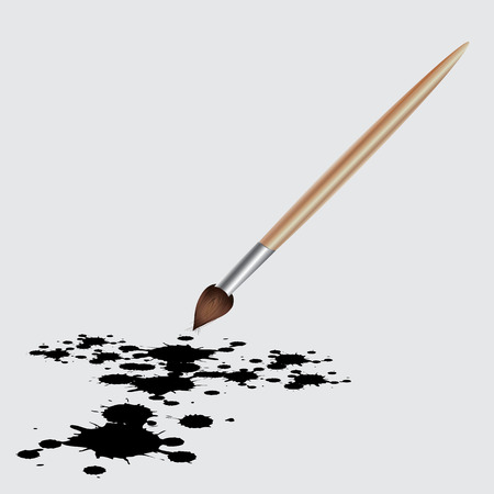 Vector illustration Blob splashes art brush