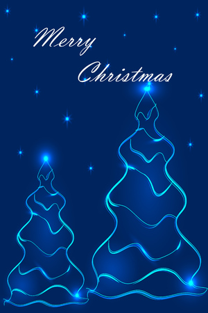 abstract shapes, Christmas tree, a fantastic time to