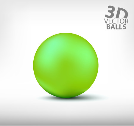 reflection: Green sphere isolated illustration.