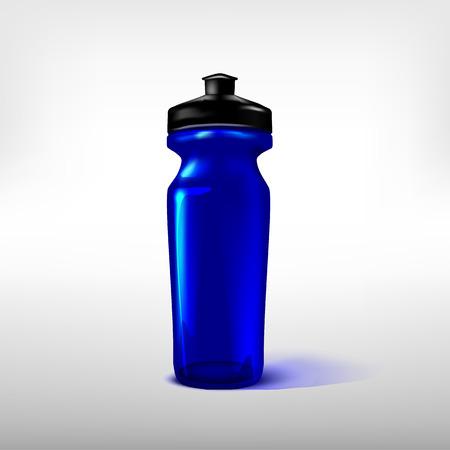 fitness equipment: Sport water bottle plastic blue.