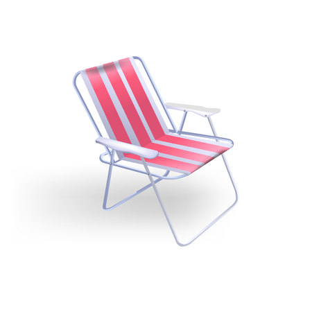 Folding chair for the beach recreation and fishing.