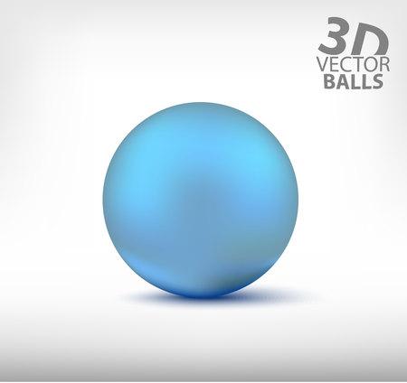 reflection: blue realistic sphere single. Illustration