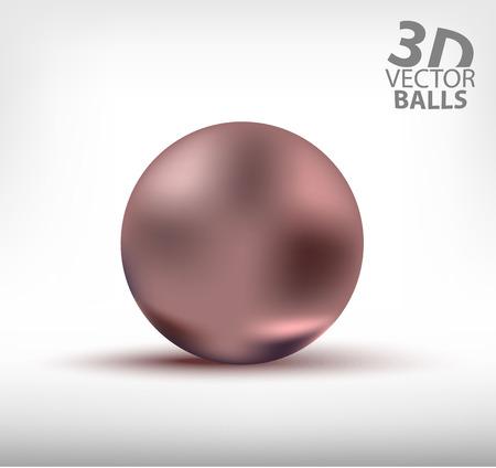 reflection: Purple realistic sphere single. 3D balls Illustration