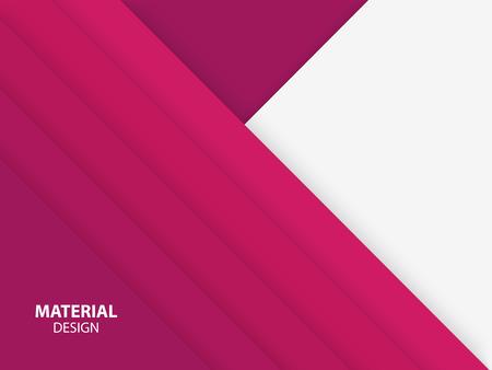 Rosa Farbe Material Design. Trendige abstrakte Vektor-Illustration.