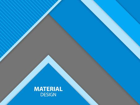Blaue Farbe Material Design. Moderne abstrakte Vektor-Illustration. Illustration