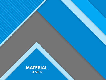 Blue color material design  . Modern abstract vector illustration.