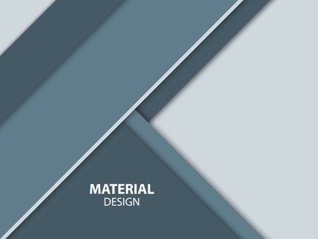 Abstract materiaalontwerp. Moderne vector illustratie. Stock Illustratie