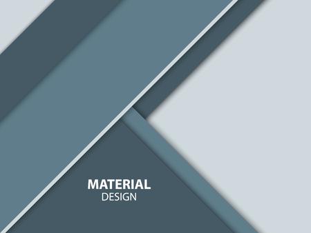 Abstraktes Material Design. Moderne Vektor-Illustration. Illustration