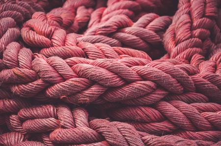 Cuerda retorcida. Vista de primer plano. Fondo abstracto Foto de archivo