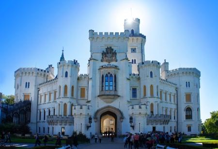 Castle Hluboka nad Vltavou in the Czech Republic Editorial