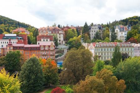 vary: Autumn view of Karlovy Vary  Karlsbad