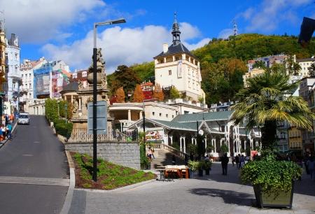 vary: Trziste street of Karlsbad  Karlovy Vary