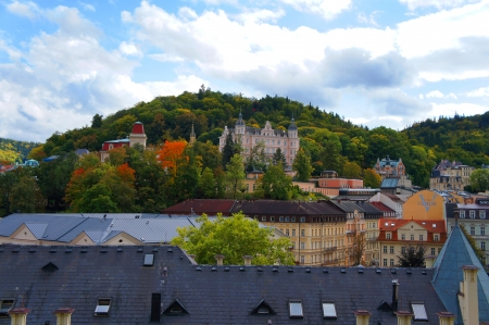 Autumn view of Karlovy Vary  Karlsbad  photo