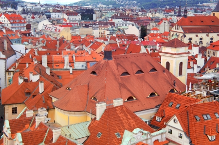 rathaus: Prague panorama from Rathaus, Czech republic Stock Photo