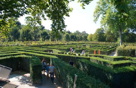 beatiful: Beatiful park labyrinth in Schoenbrunn, Vienna Editorial