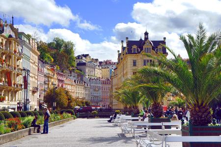 vary: Center of Karlsbad  Karlovy Vary  Editorial