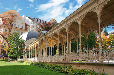 Autumn park in Karlsbad  Karlovy Vary