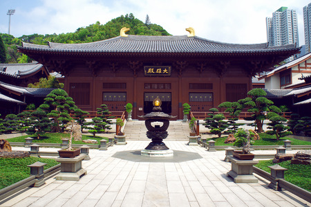 future buddha: Chi Lin Nunnery Inner courtyard