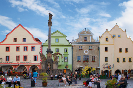 czech culture: Main square of  Cesky Krumlov Editorial