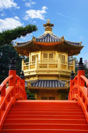 Chinese pavilion at the park of Hong Kong photo