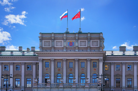 saint petersburg: Mariinsky Palace of Saint Petersburg Editorial