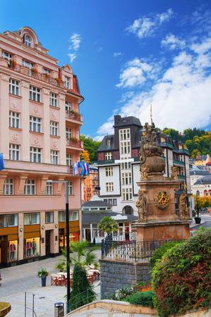 Karlovy Vary (Karlsbad) at sunny day Stock Photo
