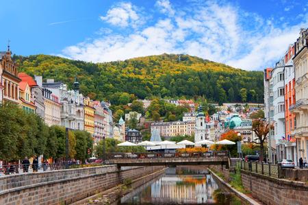 Karlovy Vary (Karlsbad) at sunny day Editorial
