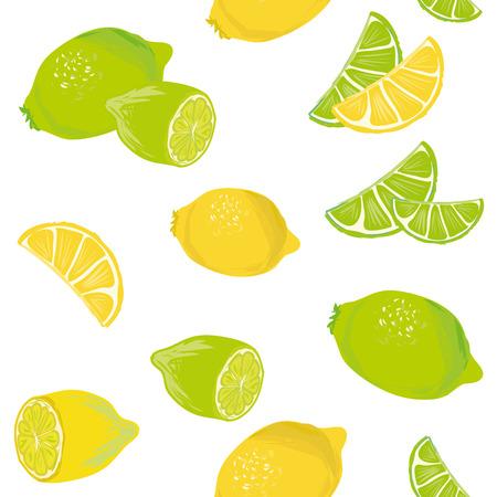 Lemon Lime seamless pattern Vector