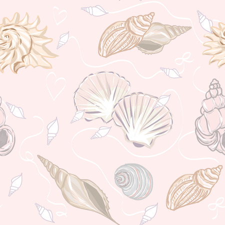 cockle: Shelly seamless pattern