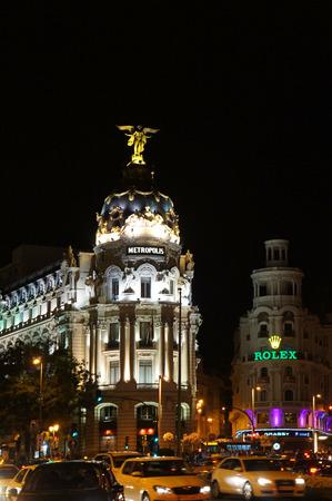 gran via: Gran Via street of Madrid by night