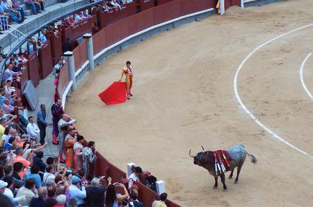 manoeuvre: Matador Jose Maria Lazaro charm the bull