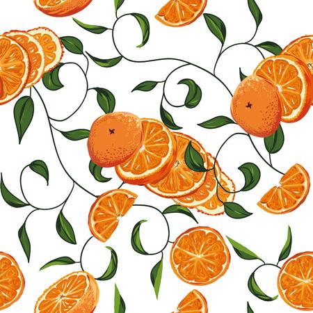 Orange swirling seamless background, EPS10 file Vector