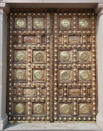 padded: Padded door texture Editorial
