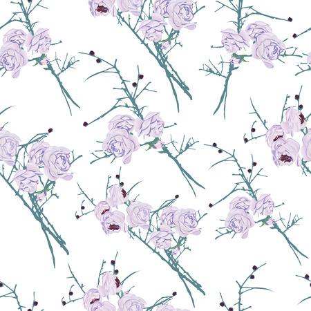 calming: Fantasy roses calming seamless pattern