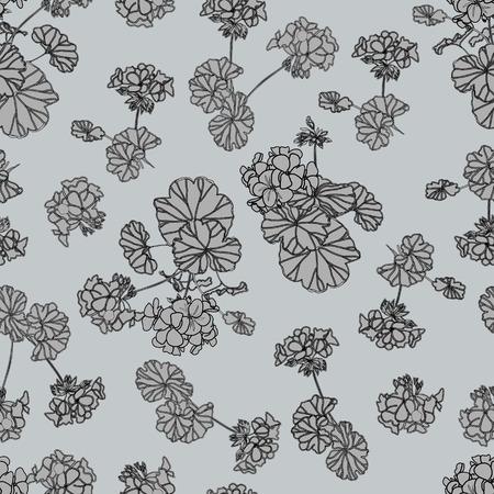 Neutral grey floral background