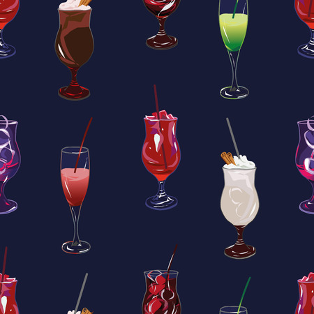 tubule: Cocktail party navy seamless pattern, EPS10 file