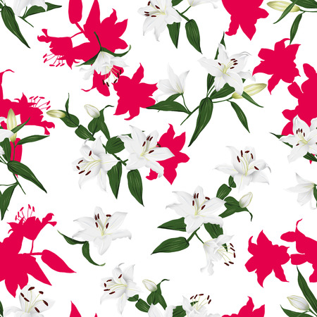 contrast: Lilies contrast bright seamless background