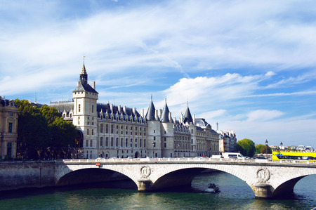 Pont au Change and Conciergerie, former prison in Paris