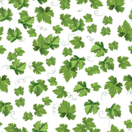 seedlings: Seedlings leaves seamless pattern